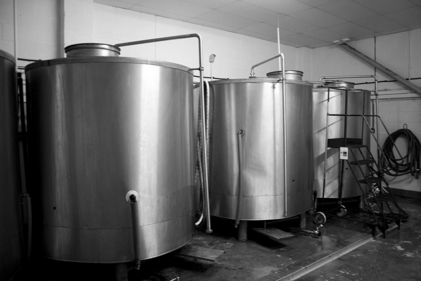 Leeds Brewery fermenting tanks